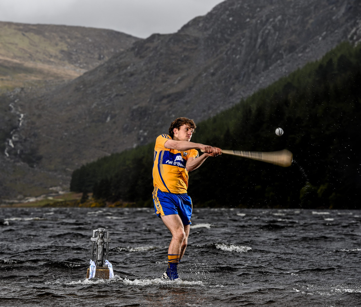 U-21 Clare hurling star Shane O'Donnell pictured at the launch of the 2015 Bord Gáis Energy GAA Hurling U-21 All-Ireland Championship at Glendalough, Co. Wicklow today. Picture credit: Stephen McCarthy / SPORTSFILE