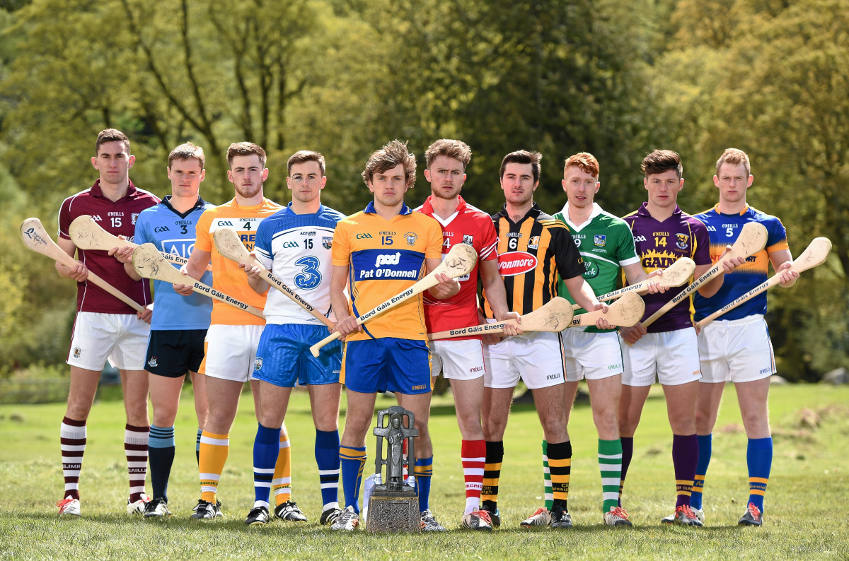 2015 Bord Gáis Ambassadors, from left, Jason Flynn,, Cian O'Callaghan, Ryan McCambridge, Colin Dunford, Shane O'Donnell, Anthony Spillane, Conor Martin, Cian Lynch, Conor McDonald, and Michael Breen.Picture credit: Stephen McCarthy / SPORTSFILE