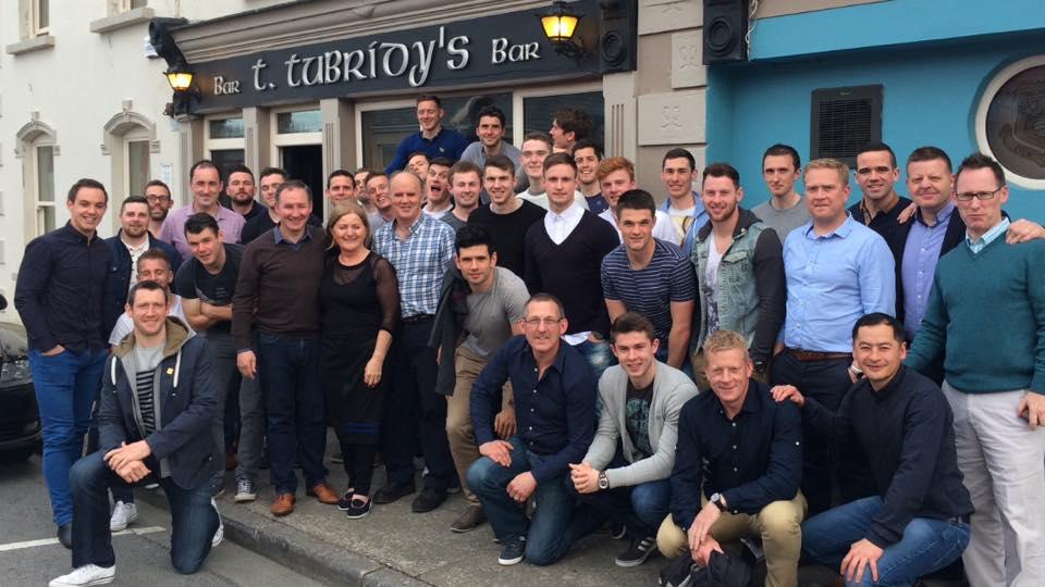The Dublin football panel outside Tubridy's Bar Doonbeg