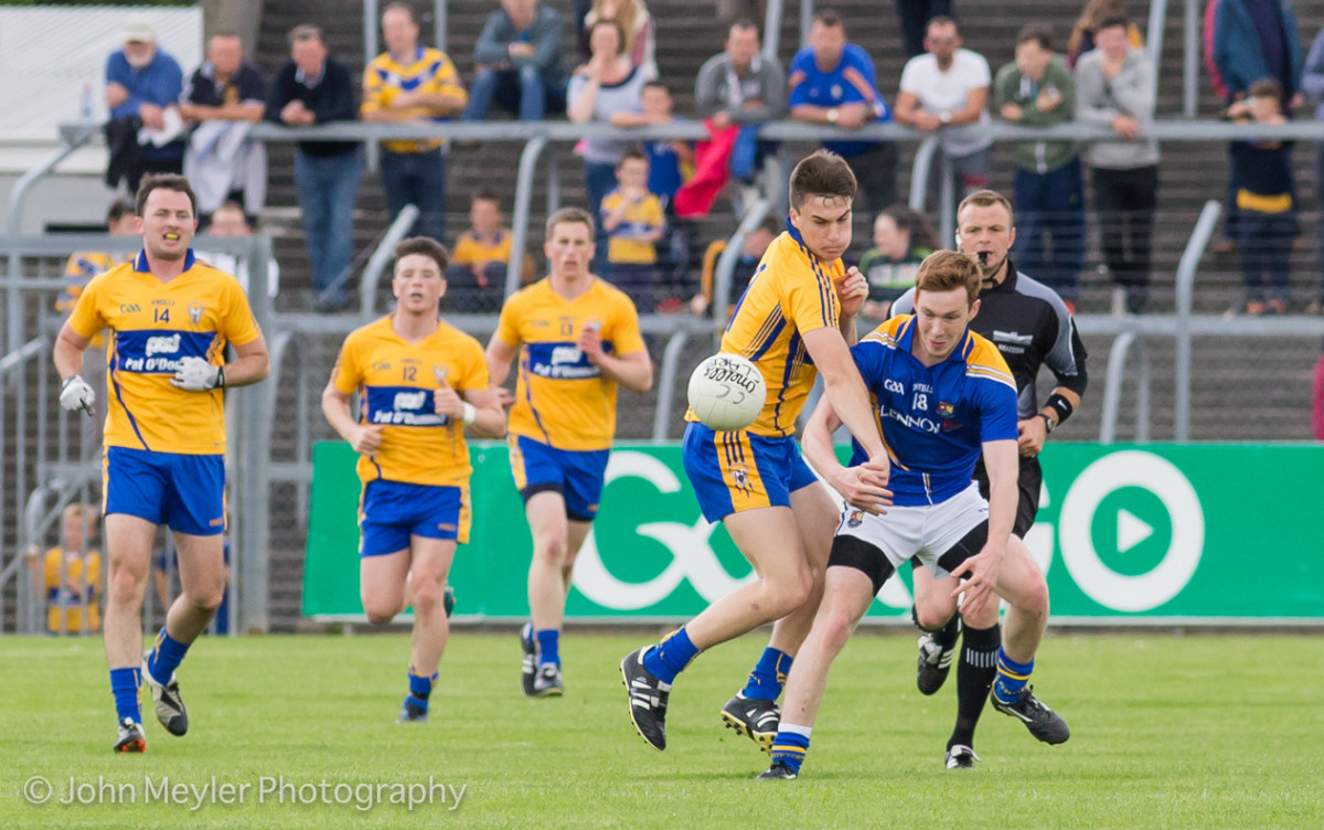 Jamie Malone in action for Clare. Pic: John Meyler