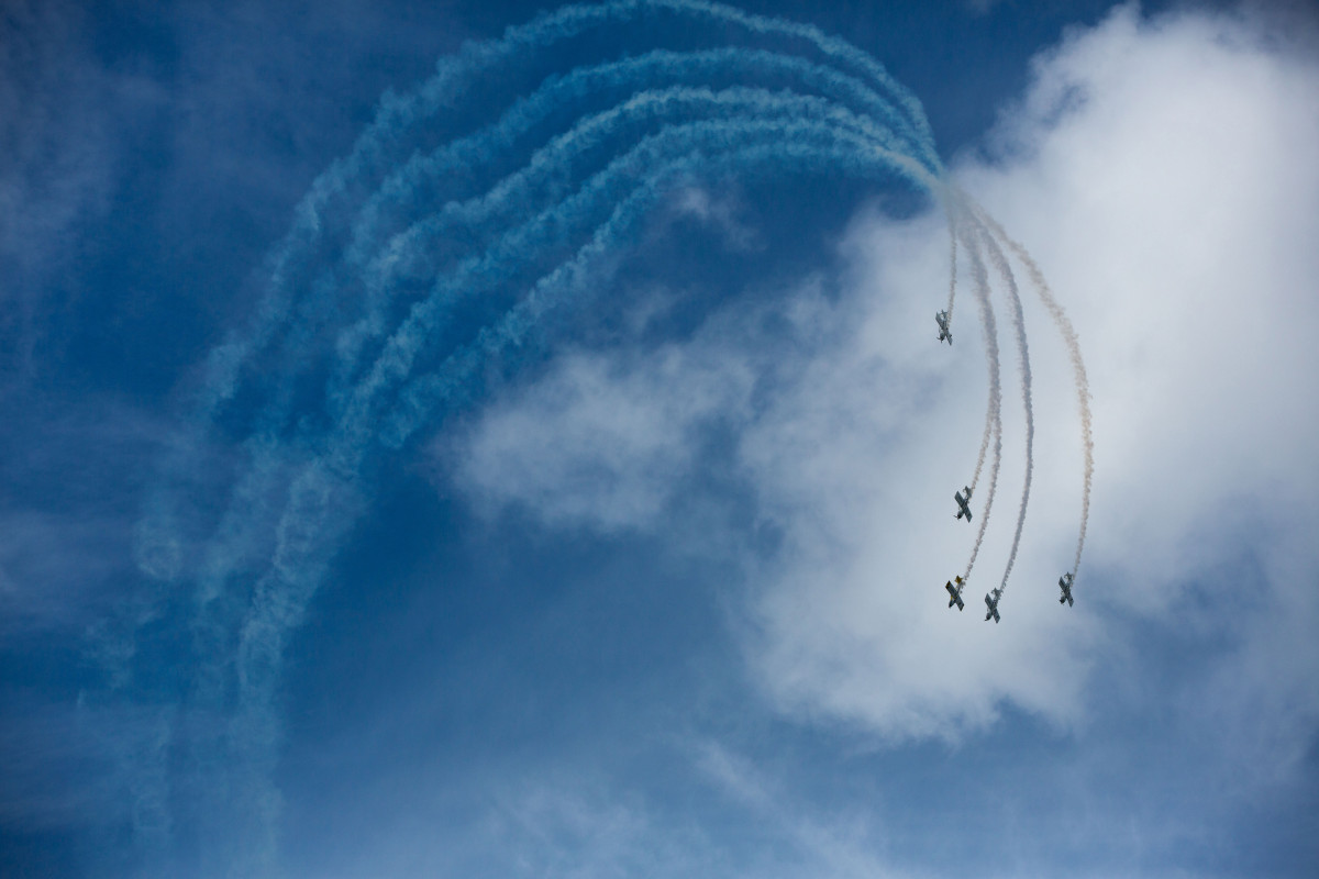 Team Raven taking part in the 2014 Foynes Air Show as 15,000 turned up for the centrepiece of the Foynes 75th anniversary celebrations involving up 30 different aircraft. Pic Fusion Shooters