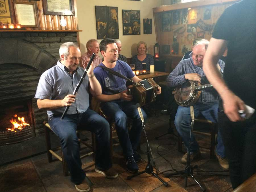 Noel O'Donoghue, Murty Ryan and Kevin Griffin in Gus O'Connor's Pub, Doolin