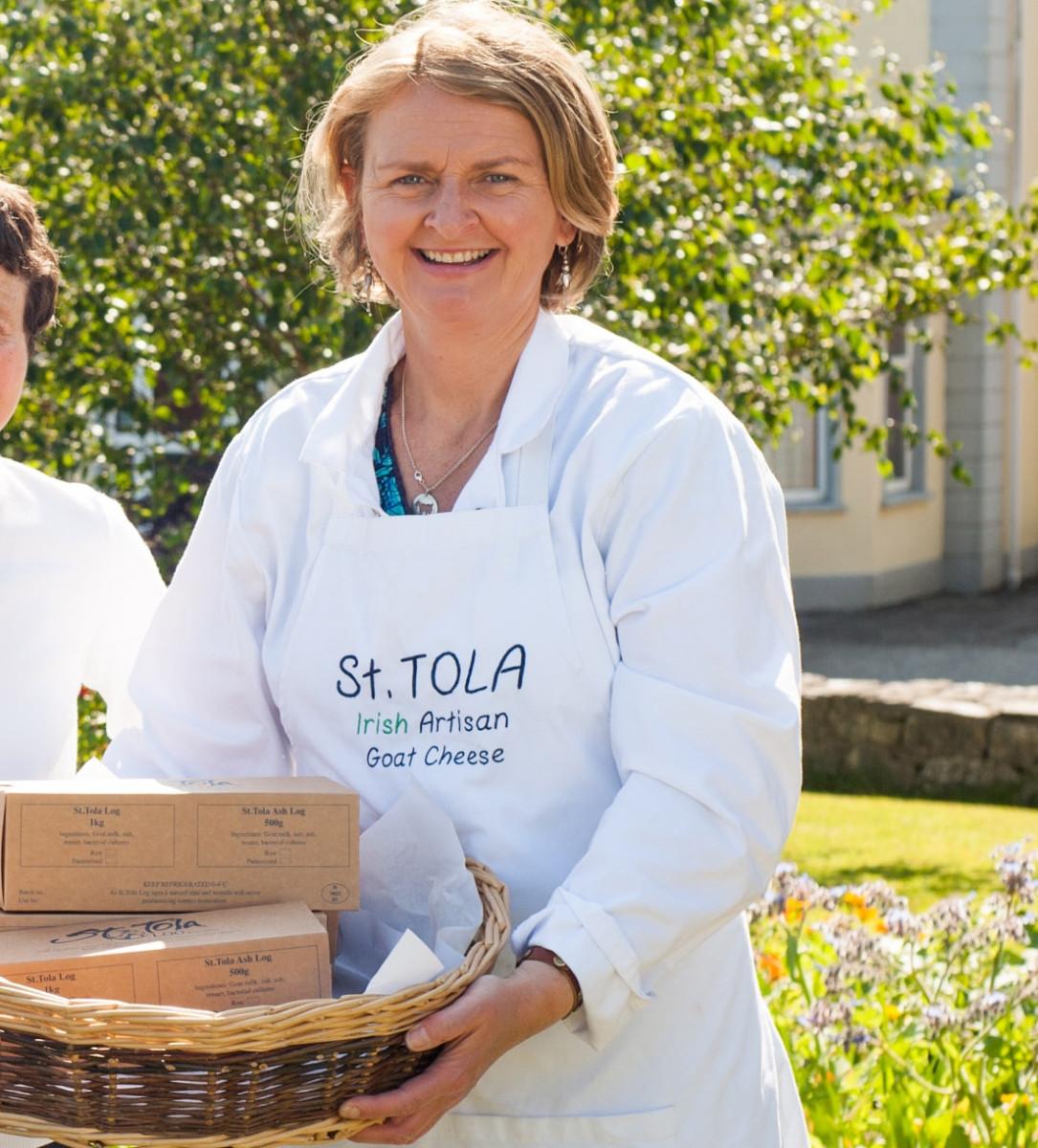Siobhan Ní Ghairbhith of Inagh Farmhouse Cheese Ltd. Photo: REG GORDON