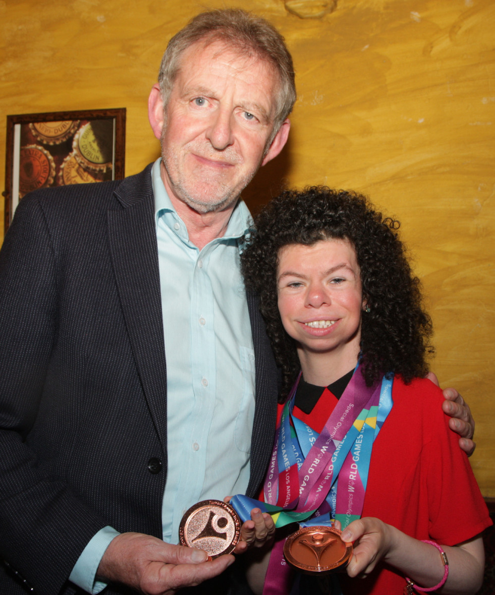 Mayor of Limerick Cllr Michael Sheahan with Special Olympian Ashleigh O'Hagan. Picture: Dermot Lynch