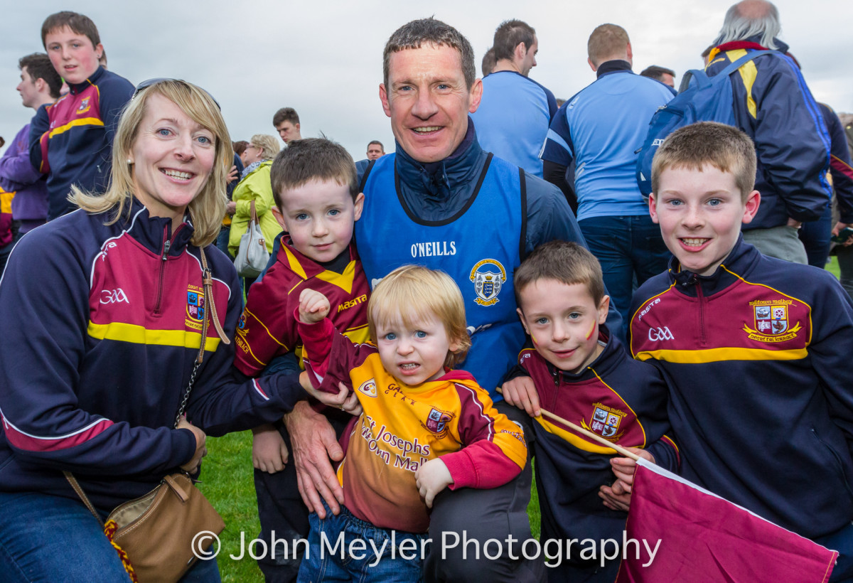 Michael Neylon pictured with family after the game. Picture: John Meyler