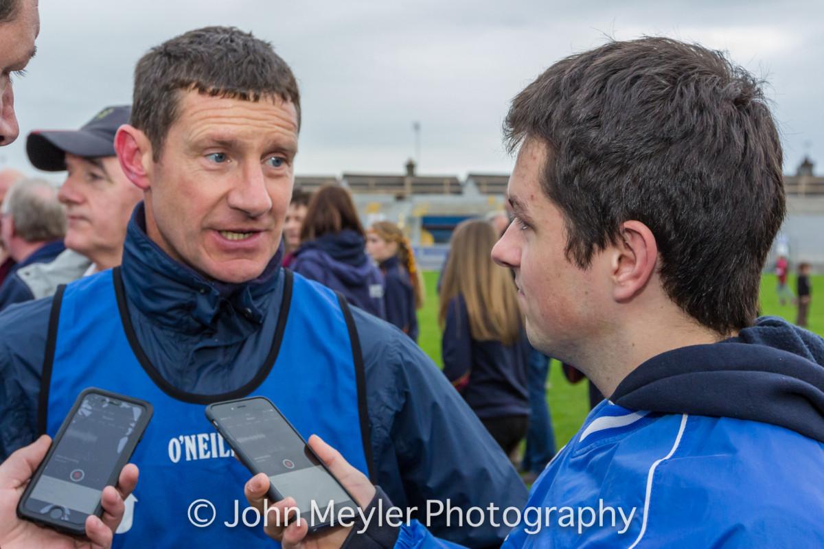 Michael Neylon speaking to The Clare Herald's Páraic McMahon. Picture: John Meyler