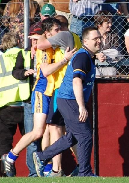 John O'Meara anticipates the final whistle. Picture: Veronica McMahon