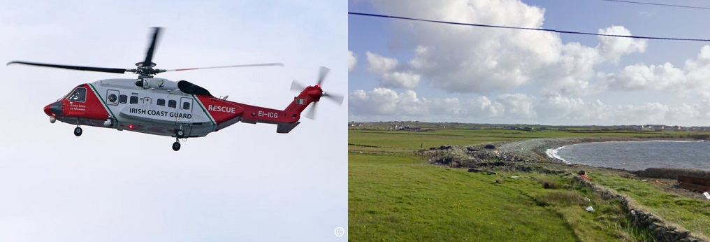 Rescue 115 (pic Pat Flynn) and Caherrush (pic Google)