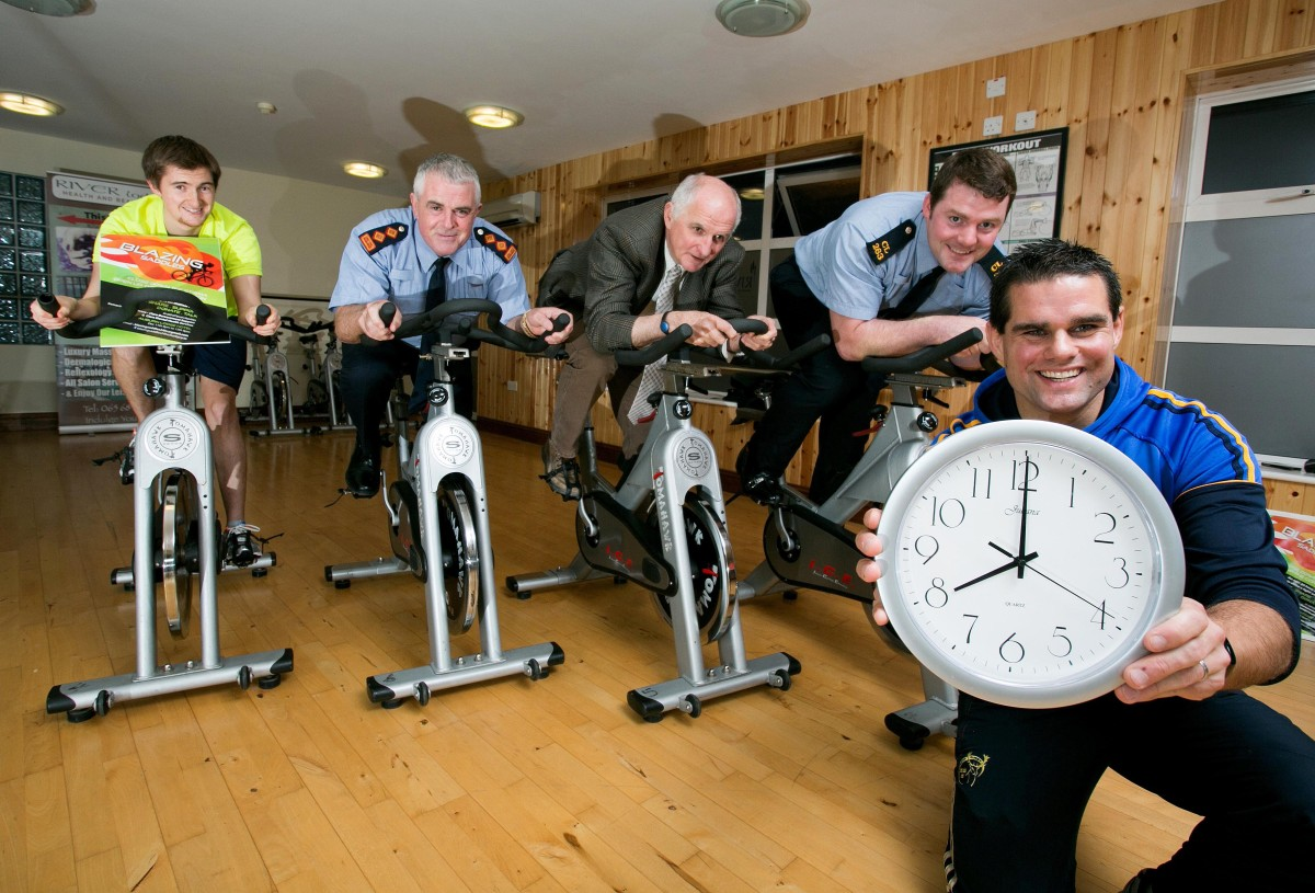 Pictured launching the event at The Riverlodge Ennis are L-R Rob O'Neill, Chief Superintendent John Kerin, Fiachra Hensey, Clarecare, Garda Sean Mullins and Gerry O'Halloran, Riverlodge.Pic Arthur Ellis.