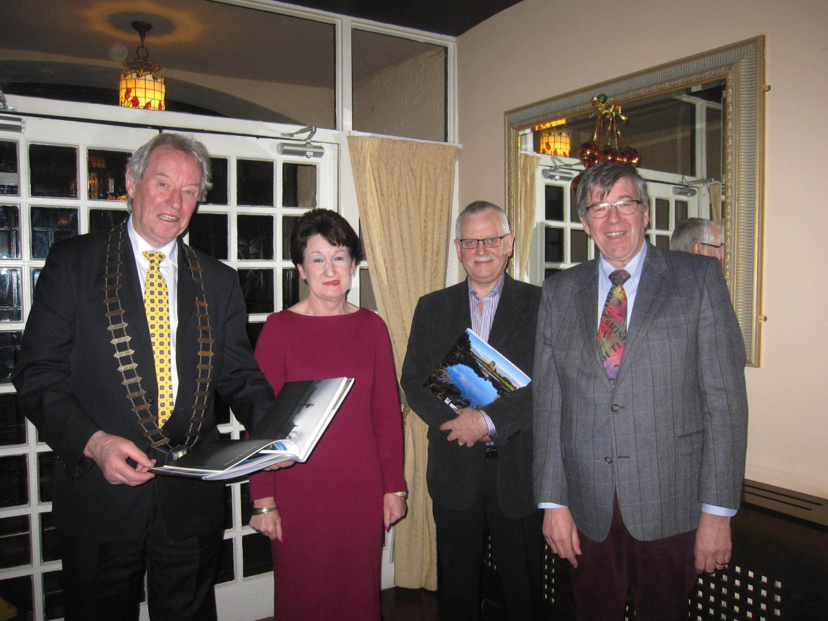 Pictured at the launch of This Is The Burren, Carsten Krieger's photographic ode to the world-famous region, in Hyland's Burren Hotel, Ballyvaughan, Co. Clare, on Sunday (November 29th), Cllr. James Breen, Cathaoirleach, Clare County Council, Rose Hynes, Chairperson of Shannon Group plc; Tom Coughlan, Chief Executive, Clare County Council, and George Quinn, Hyland's Burren Hotel