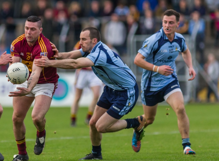 Donnelly (middle) in action during the recent County Final. Pic John Meyler
