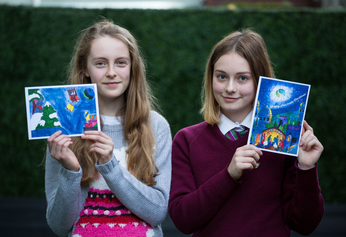 Pictured was Alicia O'Connor from Meenkilly NS in Abbeyfeale, overall winner in Primary School section and Victoria Morozova from Laurel Hill Secondary School, overall winner in the Secondary School section. Picture: Alan Place/Fusionshooters.