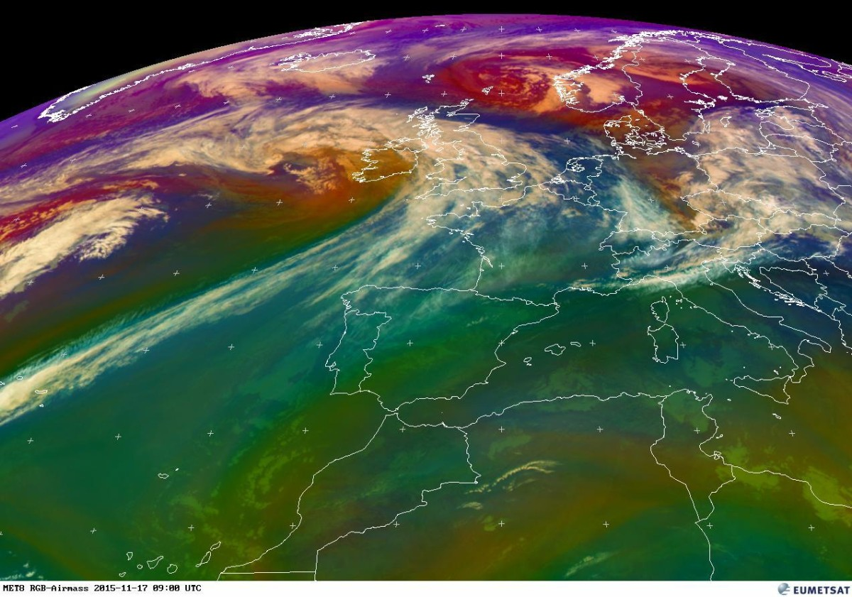 Storm Barney as visible on this EUMETSAT image