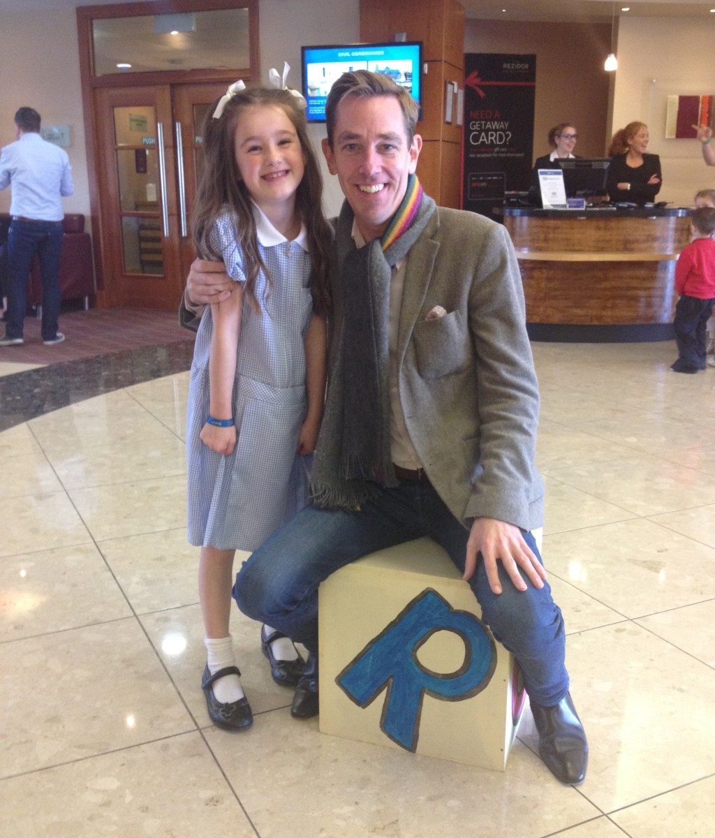 Holly Dunphy with Late Late Show host Ryan Tubridy