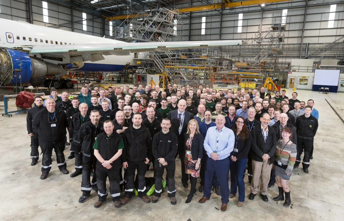 The team at Atlantic Aviation. Photograph by Eamon Ward