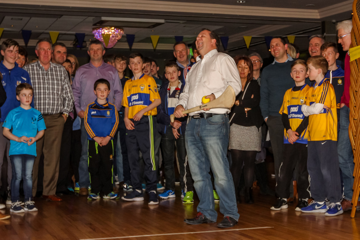 Davy Fitzgerald during the Race Night fundraiser for Clare hurling teams from U14 level up to Senior. Credit John Meyler Photography