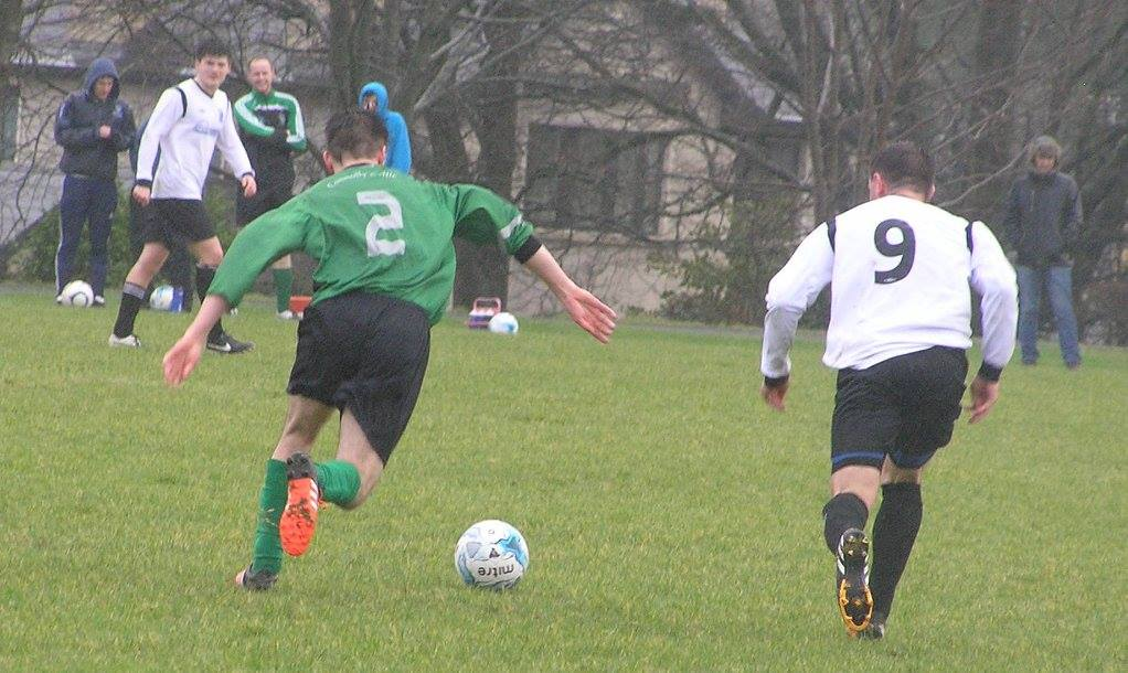Connolly Celtic's Cathal Fitzgerald in action against Hermitage in today's Cup clash in the Fairgreen