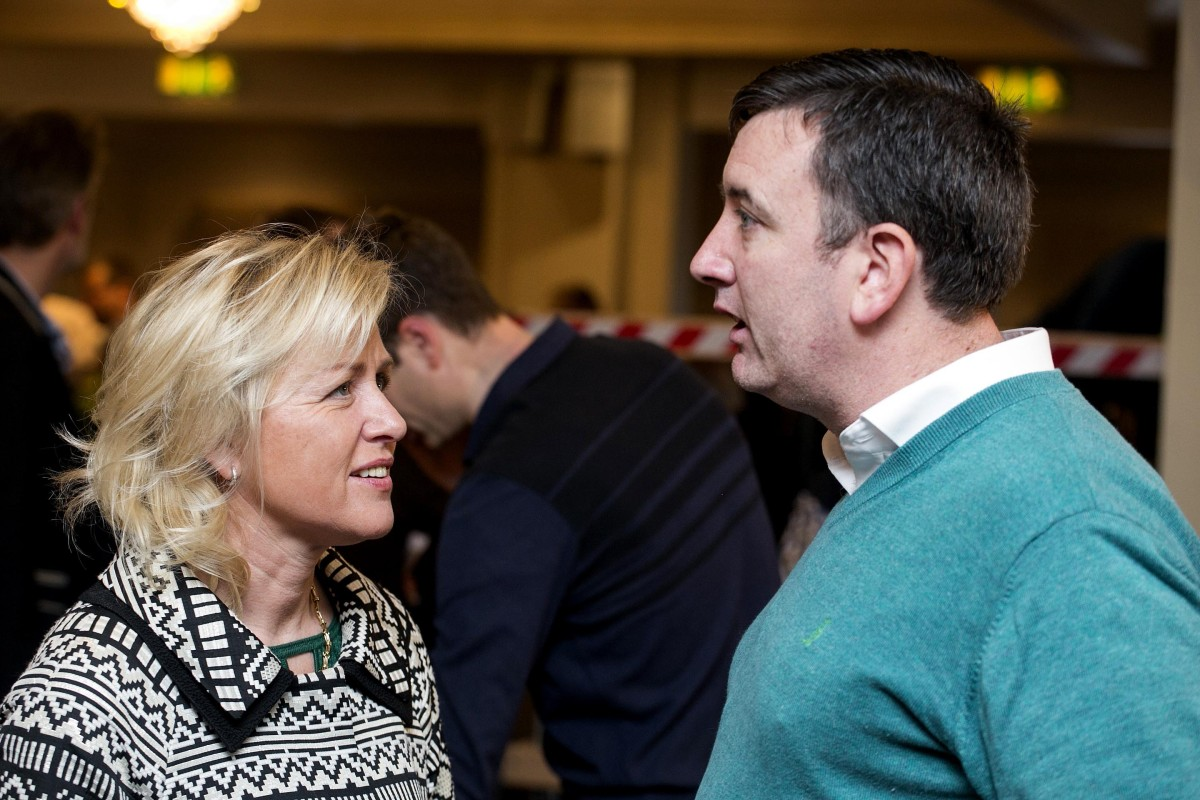 Ann Norton and Ian Lynch .Pic Arthur Ellis.