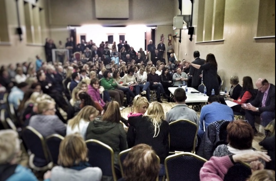Last night's public meeting in Kilrush. Pic Cian McCormack via Twitter
