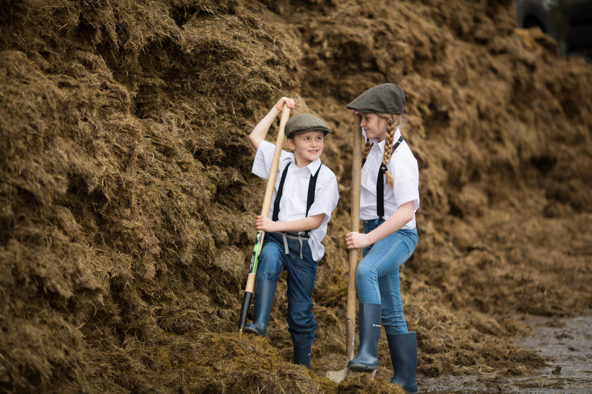 Pictured at the launch of Bothar's 25th birthday celebrations on Thomas Blackburn's farm in Effin, Co. Limerick David (7) and Ruby (11) Mulqueen from Ardnacrusha, Co. Clare.  Pic Sean Curtin/FusionShooters.