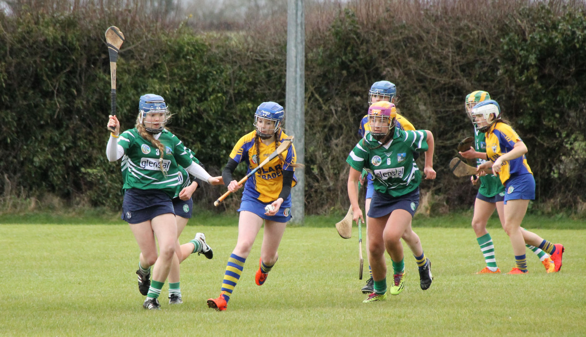 Robyn Conway attempts to get a shot in. Picture: Caroline O'Keeffe