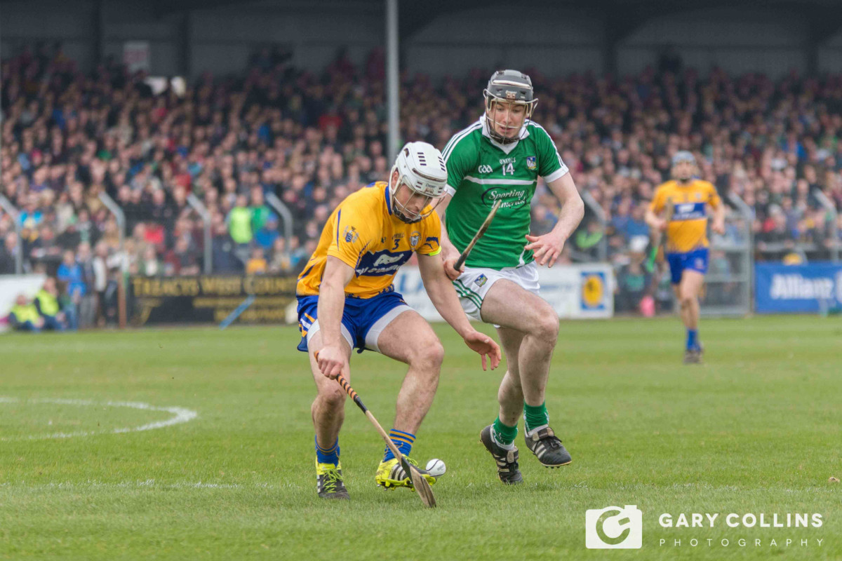 Patrick O'Connor and Declan Hannon in action. Pic: Gary Collins