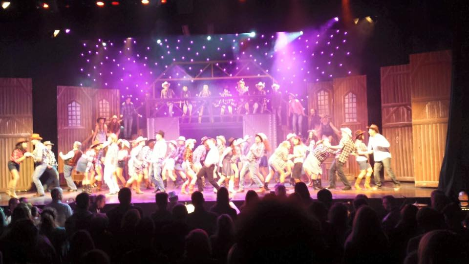 The cast of Ennis Musical Society on stage last night