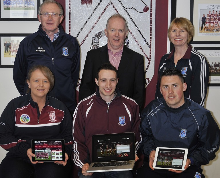 Back row left to right; Martin Coffey (Chairman of St. Joseph's Doora/Barefield GAA Club), Michael Byrne (Managing Director, Acton BV), Sharon Meaney (PRO St. Joseph's Doora/Barefield Ladies Football Club) Front row left to right; Ann Marie McGann (PRO St. Joseph's Doora/Barefield Camogie Club) Cillian Griffey (PRO St. Joseph's Doora/Barefield GAA Club), Liam Clohessy (Minor Club PRO St. Joseph's Doora/Barefield GAA)