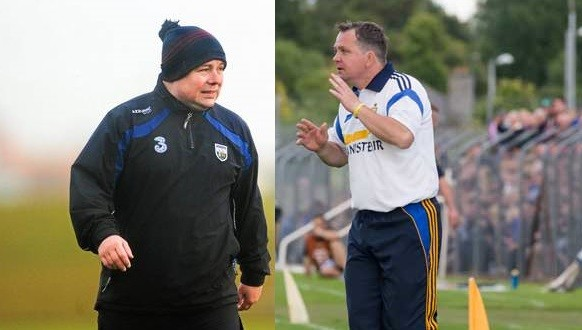 Waterford's Derek McGrath and Clare boss Davy Fitzgerald