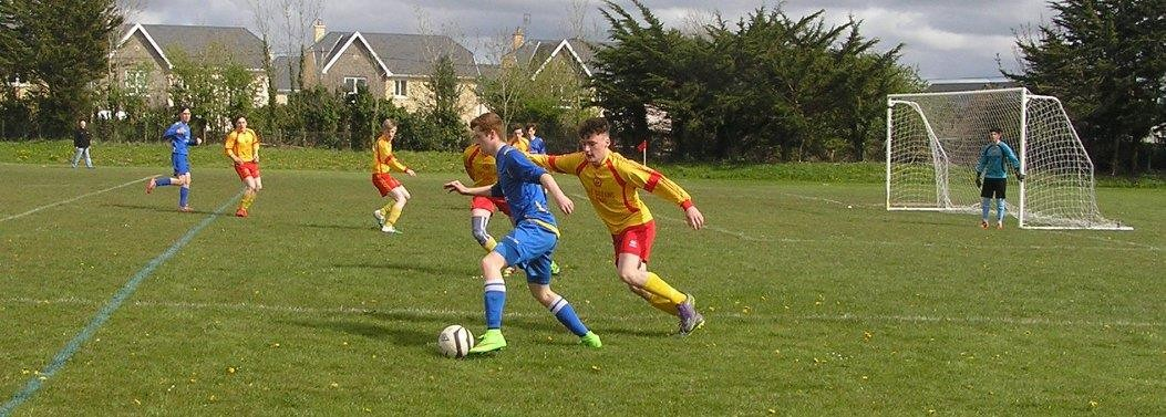 Action from the Jim Casey Trophies U17 League Semi-Final between Avenue and St Pats