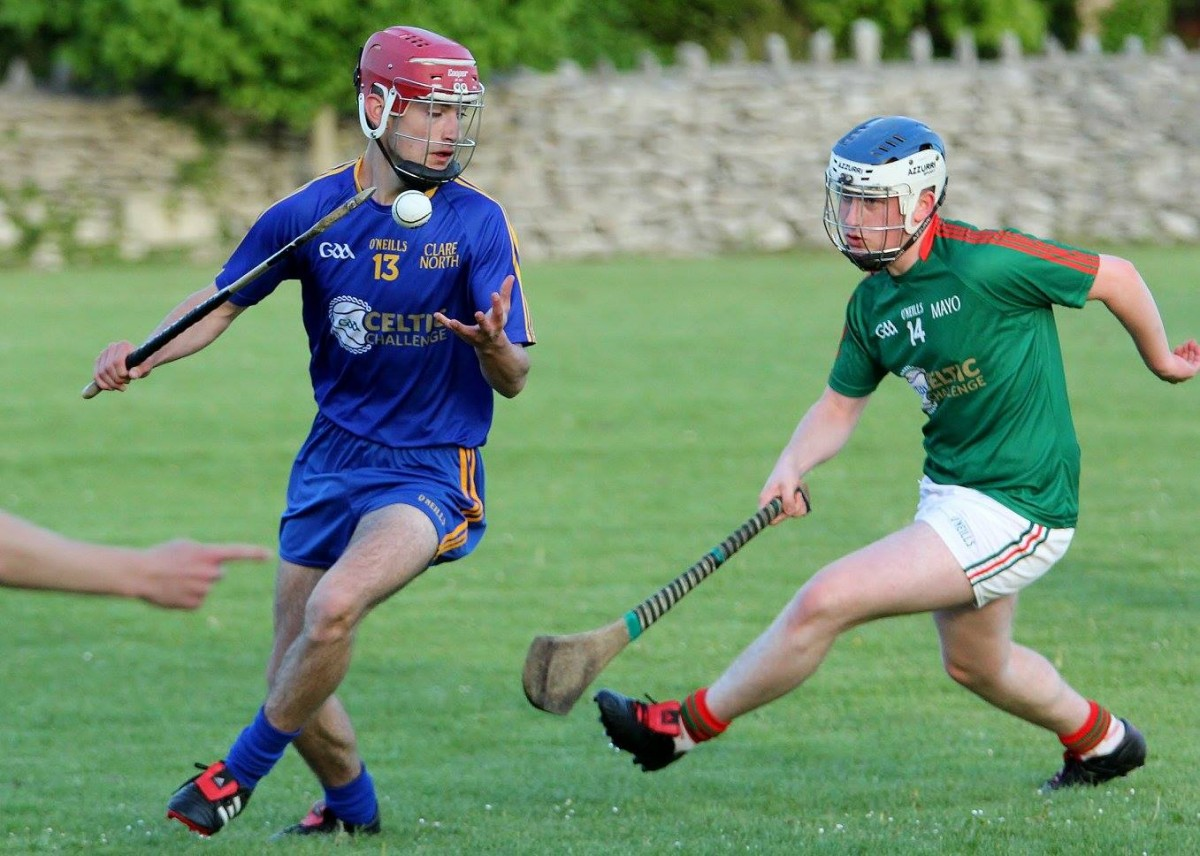 Ciarán Keenan in possession ahead of Mark Cusack. Picture: Willie O'Reilly