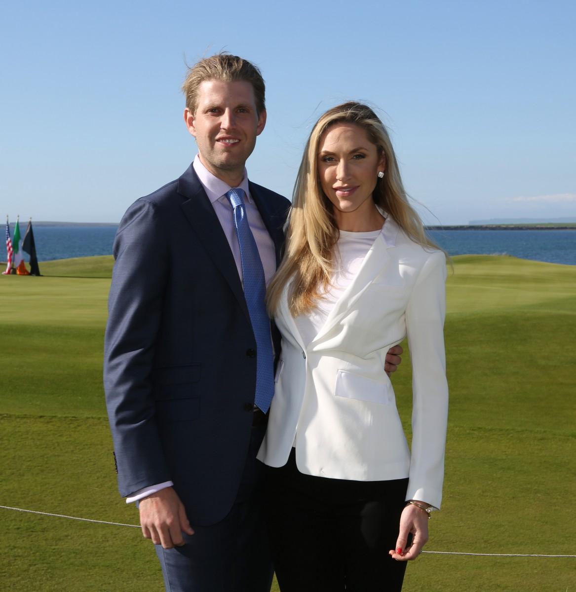 Eric and Lara Trump.Photographs by Liam Burke/Press 22