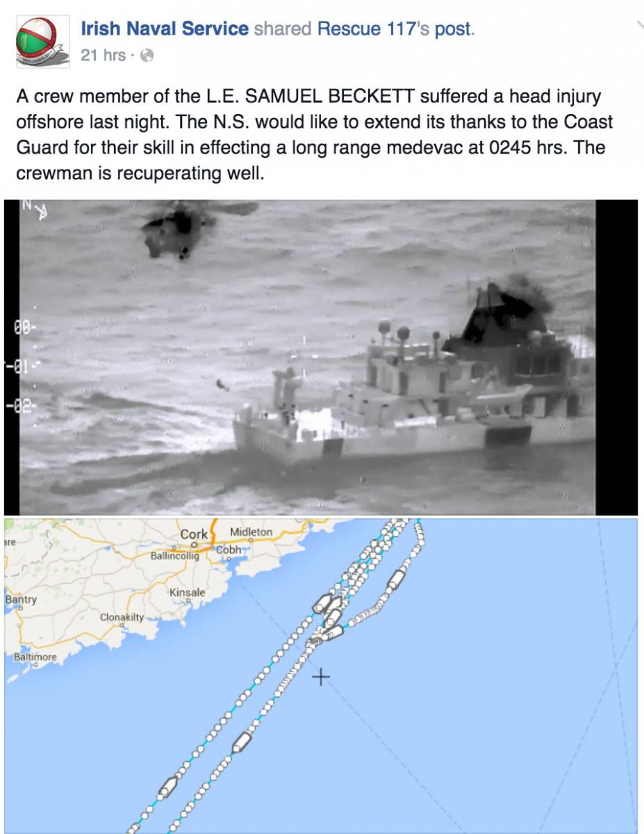 Image: Irish Naval Service/Irish Coast Guard
