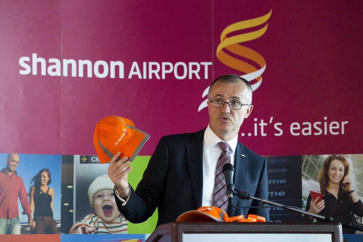 Pictured speaking at the launch was Niall Maloney, Shannon Airport Operations Director. Picture: Oisin McHugh/FusionShooters.