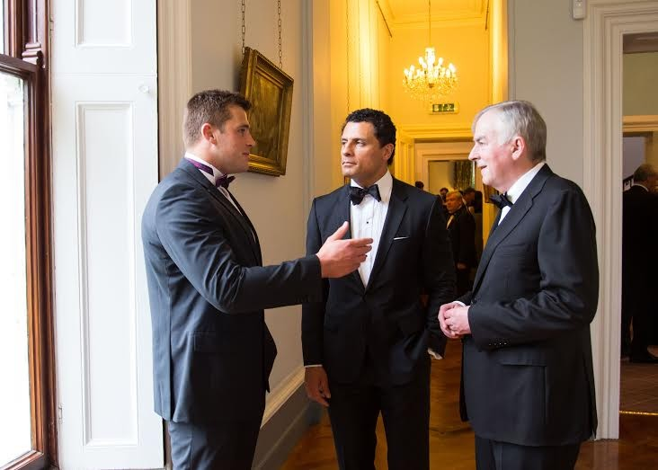 CJ Stander talking to Doug Howlett & Don Barry. Picture: Alan Place