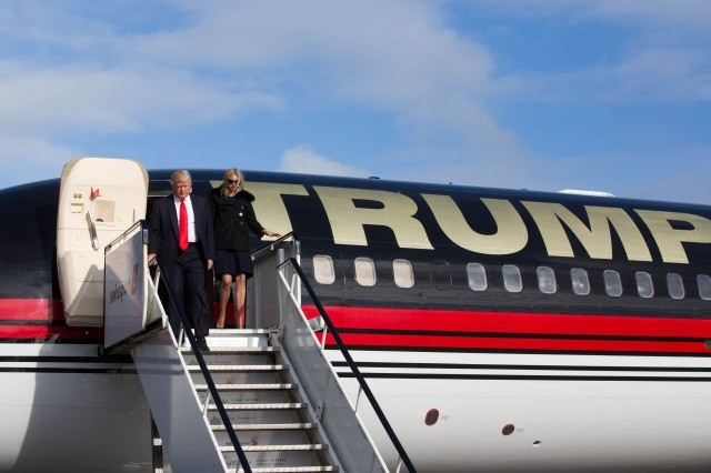 Donald Trump during his visit to Clare in May 2014. Pic: Sean Curtin