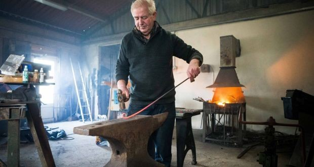 Paddy Murray pictured at his forge in Kilkee. Pic: Eamon Ward