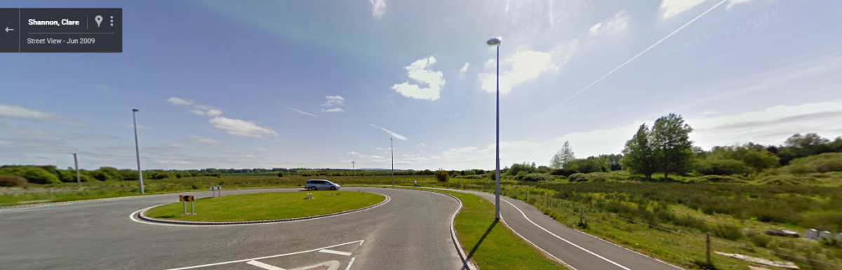 The site for the new social housing unit to be built in Shannon. Pic: Google