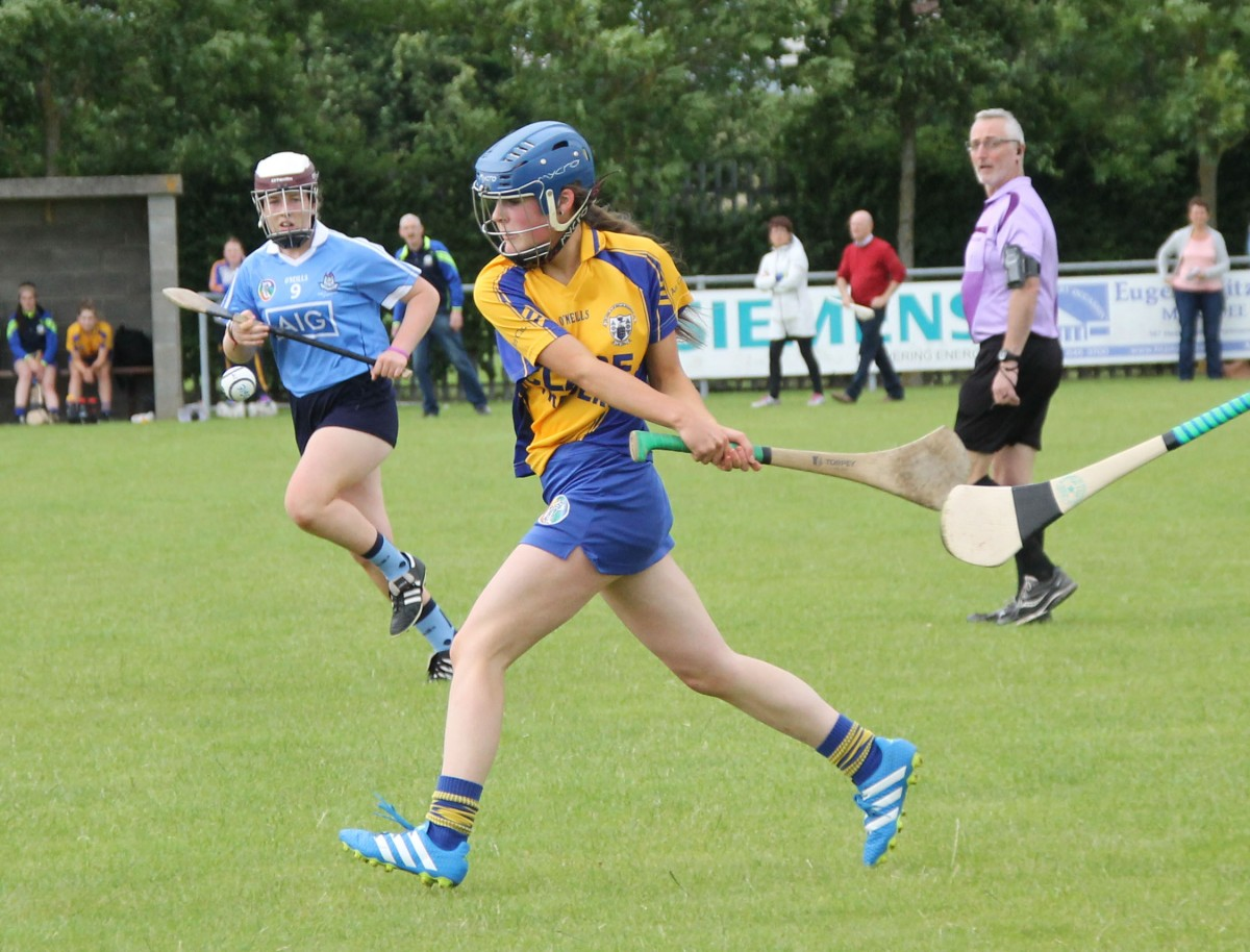 Roisin McMahon gets her shot in. Pic: Caroline O'Keeffe