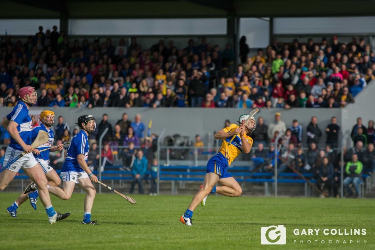 Aron Shanagher scores his first championship goal for Clare. Pic: Gary Collins