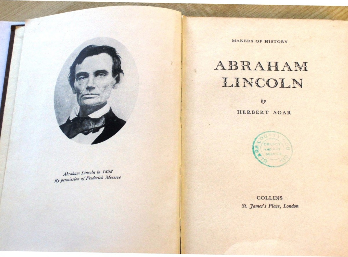 A copy of 'Makers of History; Abraham Lincoln' which was returned to Clare County Library 29 years after it was first loaned out
