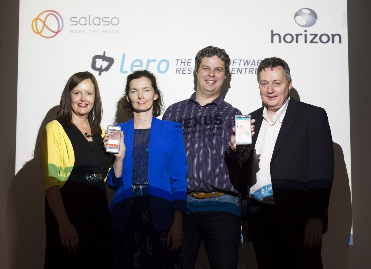 From left: Gert O'Rourke (Nexus Innovation Centre), Grainne Barry (Salaso Health Services), Andy Le Gear (Horizon Globex Ireland) and Joe Gibbs (Lero – the Irish Software Research Centre).