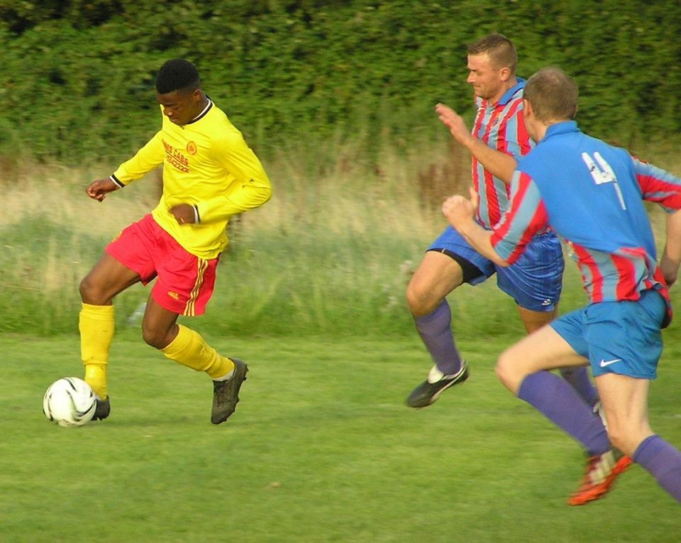 Action from Avenue Utd vs Shannon Olympic. Pic: Oliver Fitzpatrick