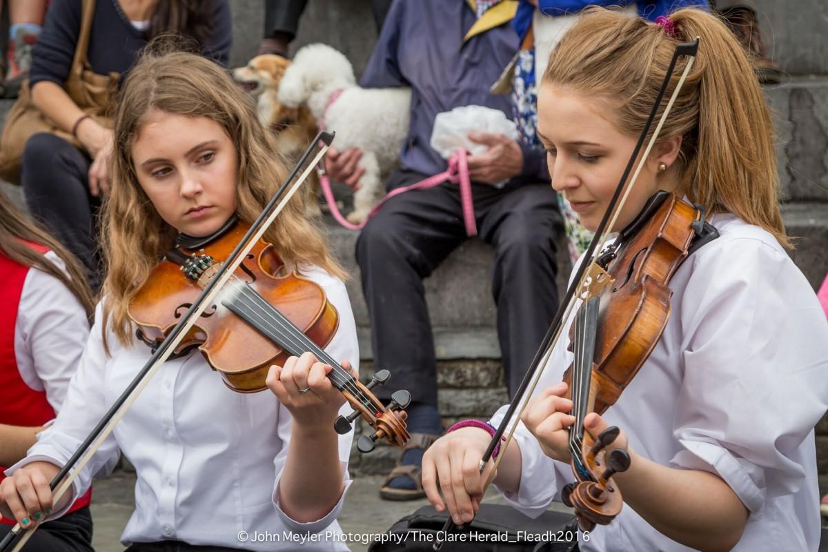 Music on the day one of the Fleadh. Pic: John Meyler