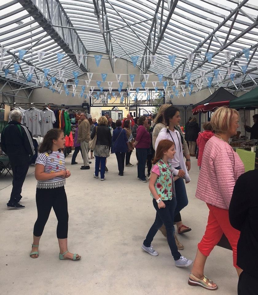 Inside the new Ennis Market.