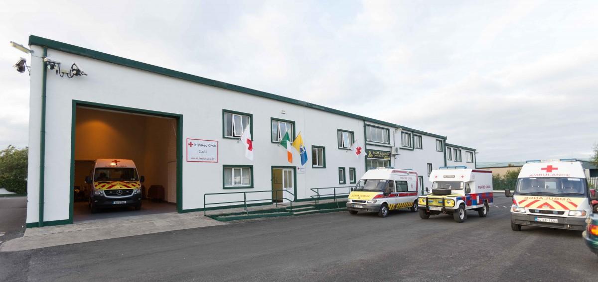 Irish Red Cross' new Ennis premises. Pic: Eamon Ward