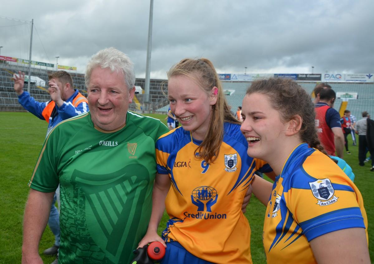 JJ O'Dea, Kayleigh McCormack & Eva O'Dea. Pic: David Dillon