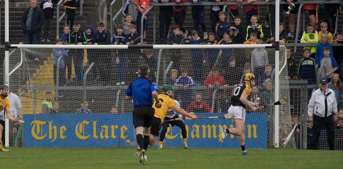 Niall Deasy strikes to the back of the net. Pic: Martin Connolly