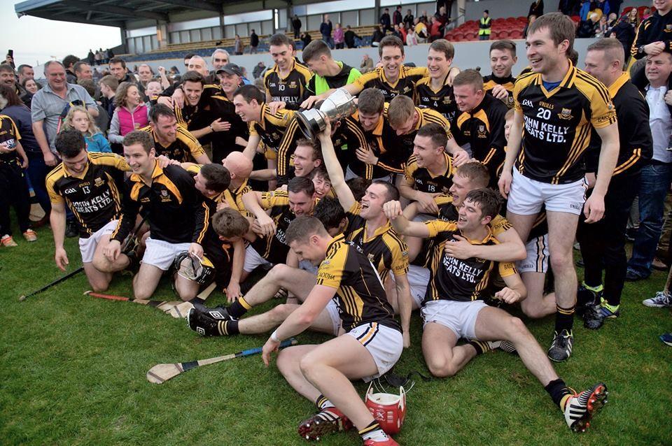 Ballyea celebrate their County Final success. Pic: Martin Connolly