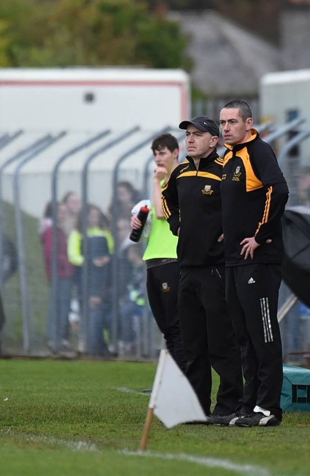 Robbie Hogan & Fergal Hegarty watch on. Pic: Martin Connolly